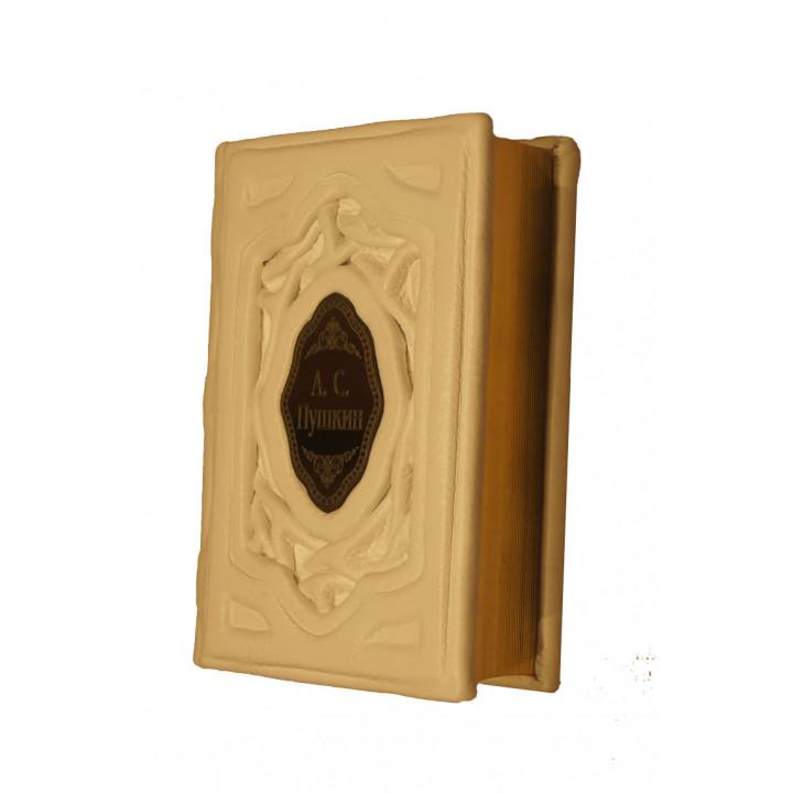 """Подарочное издание """"А.С. Пушкин"""" в кожаном переплете ручной работы"""