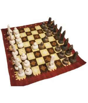 Шахматы из керамики в тубе