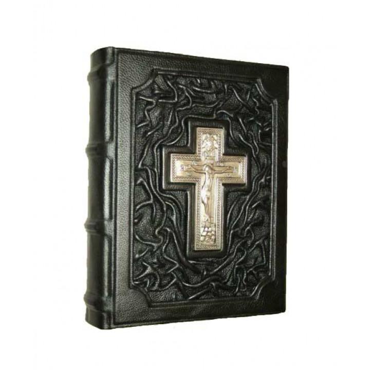 """Подарочное издание """"Евангелие"""" в кожаном переплете ручной работы"""