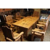 Стол и стулья ручной работы из сосны